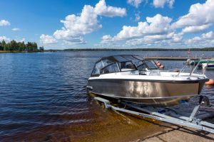 Boat,Launch,On,Lake,Water